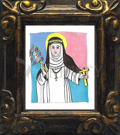 Mini Magnet Frame - St. Catherine of Siena by M. McGrath