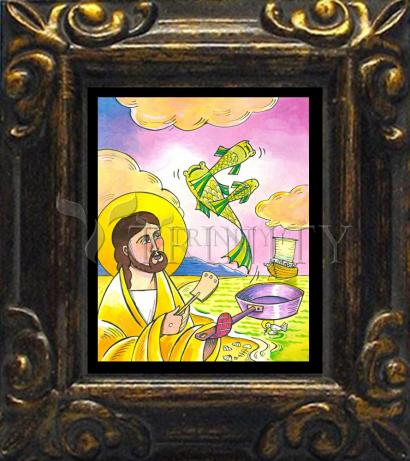 Mini Magnet Frame - Jesus: Fish Fry With Friends by M. McGrath