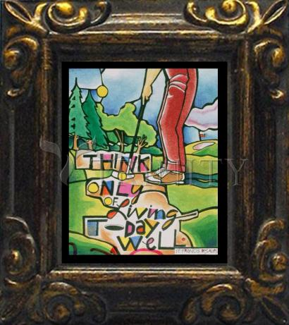 Mini Magnet Frame - Golfer: Think Only of Living Today Well by M. McGrath