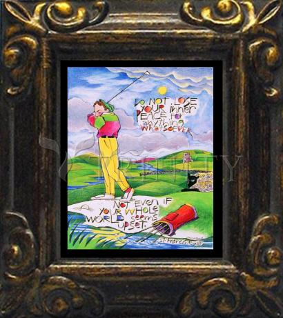 Mini Magnet Frame - Golfer: Do Not Lose Your Inner Peace by M. McGrath