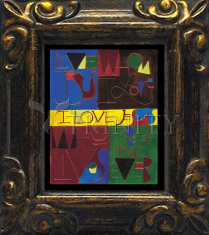 Mini Magnet Frame - I Love Jesus by M. McGrath