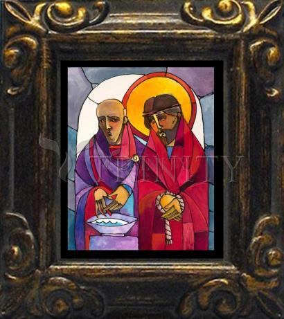 Mini Magnet Frame - Stations of the Cross - 01 Jesus is Condemned to Death by M. McGrath