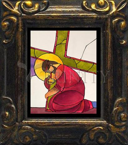 Mini Magnet Frame - Stations of the Cross - 03 Jesus Falls the First Time by M. McGrath
