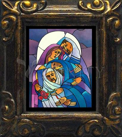 Mini Magnet Frame - Stations of the Cross - 14 Body of Jesus is Laid in the Tomb by M. McGrath
