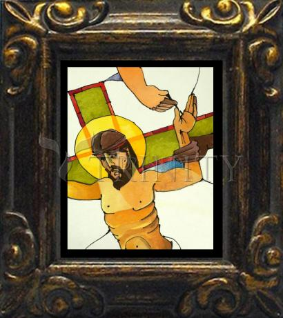 Mini Magnet Frame - Stations of the Cross - 11 Jesus is Nailed to the Cross by M. McGrath