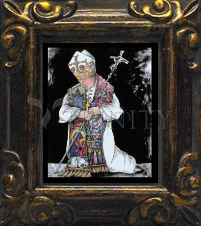 Mini Magnet Frame - St. John Paul II Kneeling by M. McGrath