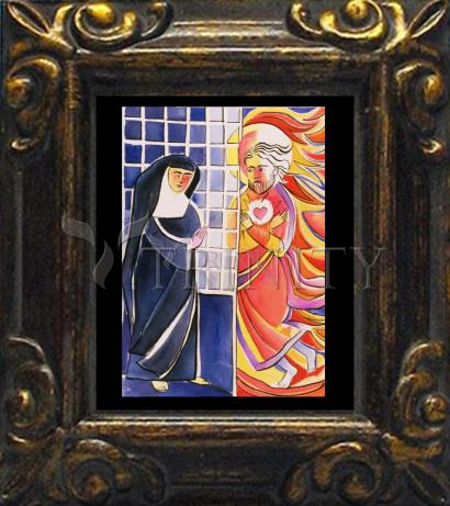 Mini Magnet Frame - St. Margaret Mary Alacoque, Cloister by M. McGrath
