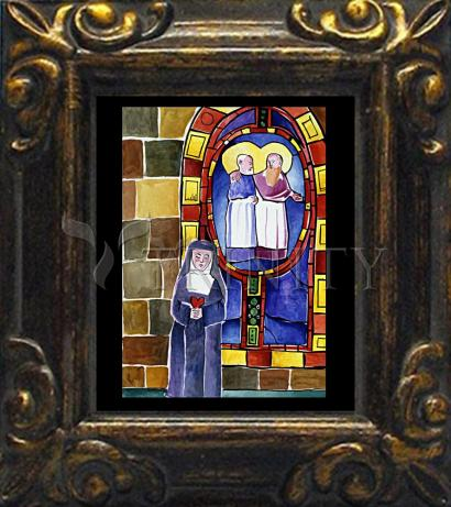 Mini Magnet Frame - St. Margaret Mary Alacoque at Window  by M. McGrath