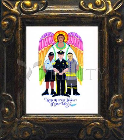 Mini Magnet Frame - St. Michael Archangel: Patron of Police and First Responders by M. McGrath