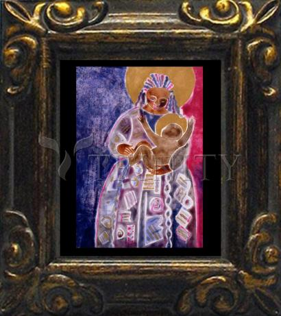 Mini Magnet Frame - Mother and Son by M. McGrath