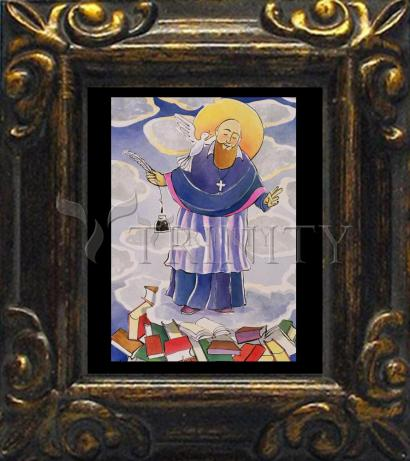 Mini Magnet Frame - St. Francis de Sales, Patron of Writers by M. McGrath