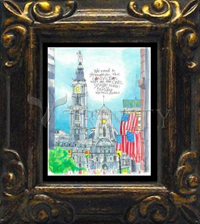 Mini Magnet Frame - Pope Francis: Philly City Hall by M. McGrath