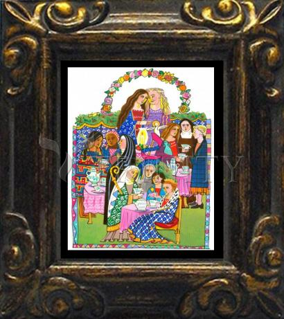 Mini Magnet Frame - Saintly Tea Party by M. McGrath