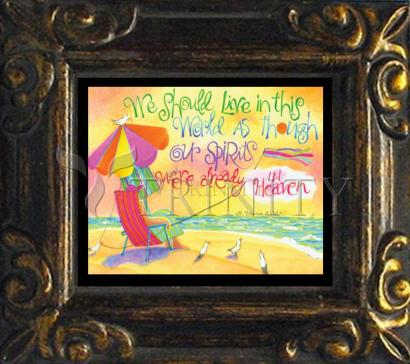 Mini Magnet Frame - We Should Live In This World by M. McGrath