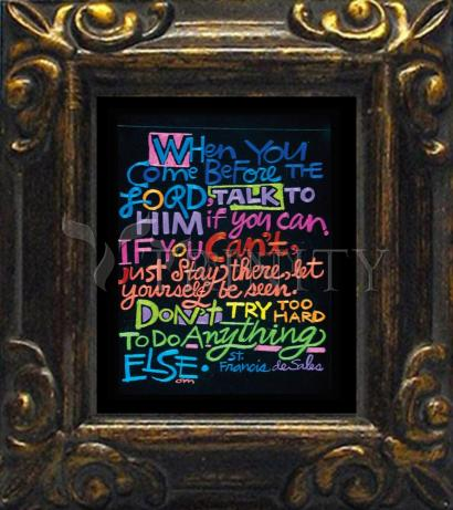 Mini Magnet Frame - When You Come Before the Lord by M. McGrath