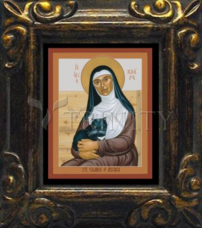 Mini Magnet Frame - St. Clare of Assisi by R. Lentz