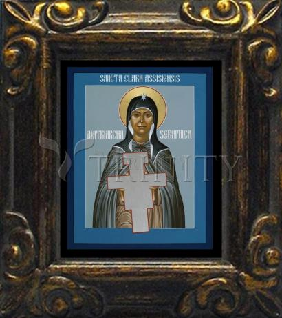 Mini Magnet Frame - St. Clare of Assisi: Seraphic Matriarch by R. Lentz