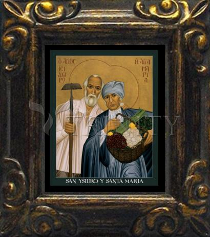 Mini Magnet Frame - Sts. Isidore and Maria by R. Lentz