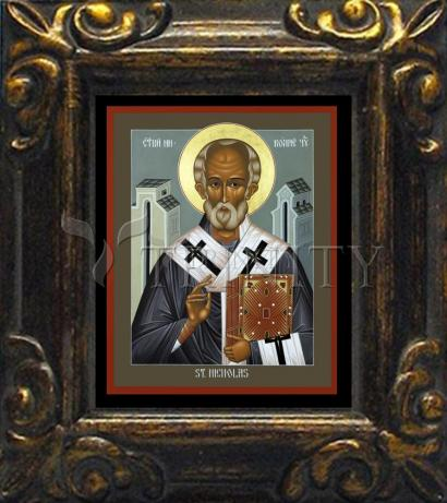 Mini Magnet Frame - St. Nicholas of Myra by R. Lentz