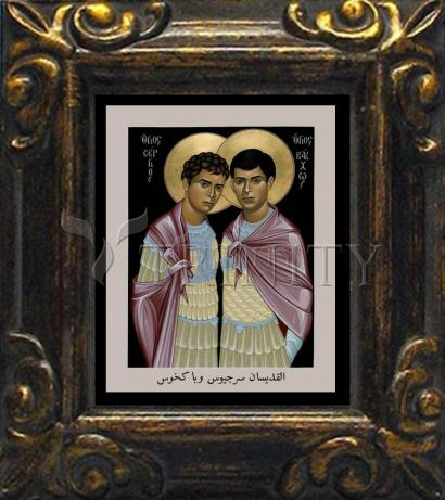 Mini Magnet Frame - Sts. Sergius and Bacchus by R. Lentz