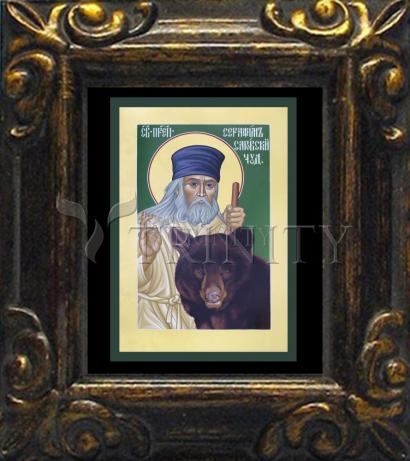 Mini Magnet Frame - St. Seraphim of Sarov by R. Lentz