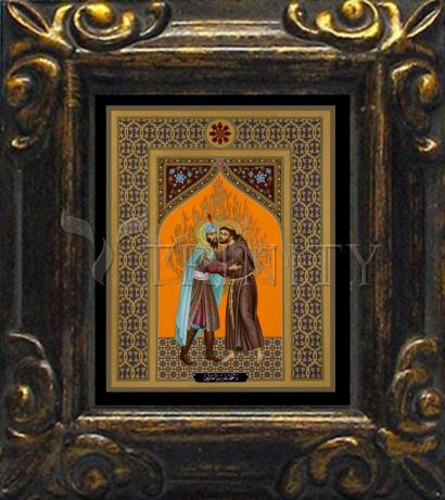 Mini Magnet Frame - St. Francis and the Sultan by R. Lentz