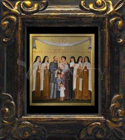 Mini Magnet Frame - Sts. Louis and Zélie Martin with St. Thérèse of Lisieux and Siblings by P. Orlando