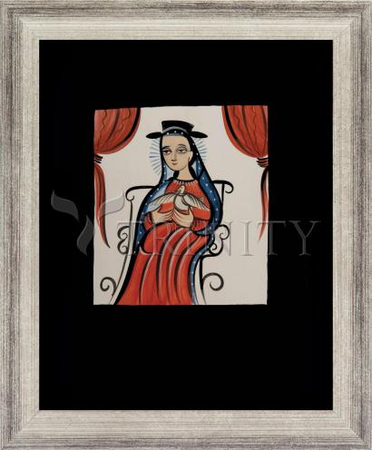 Wall Frame Silver Flat - Soul of Mary by A. Olivas