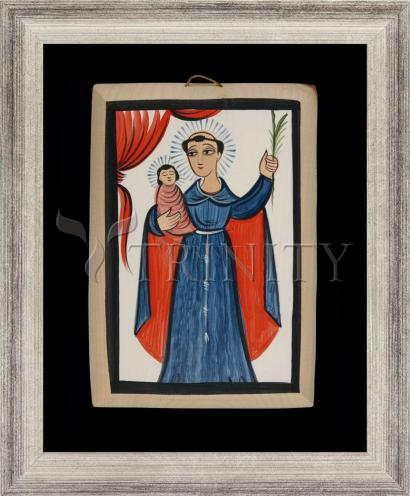 Wall Frame Silver Flat - St. Anthony of Padua by A. Olivas