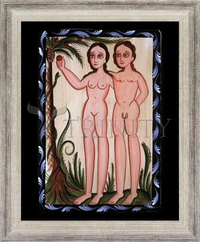 Wall Frame Silver Flat - Adam and Eve by A. Olivas