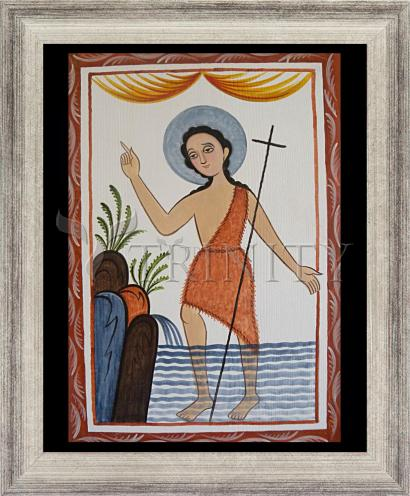 Wall Frame Silver Flat - St. John the Baptist by A. Olivas