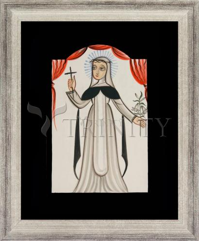 Wall Frame Silver Flat - St. Catherine of Siena by A. Olivas