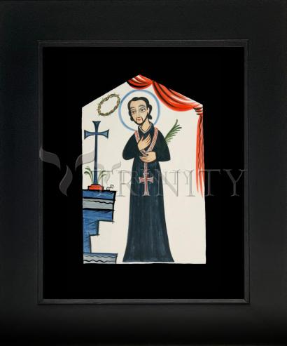 Wall Frame Gold Scoop - St. Cayetano by A. Olivas