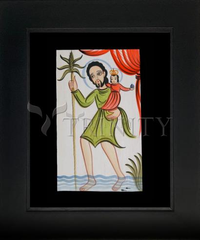 Wall Frame Gold Scoop - St. Christopher by A. Olivas