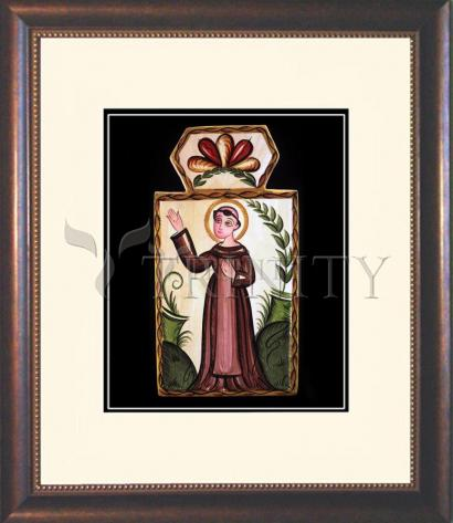 Wall Frame Double Mat Gold - St. Francis of Assisi by A. Olivas