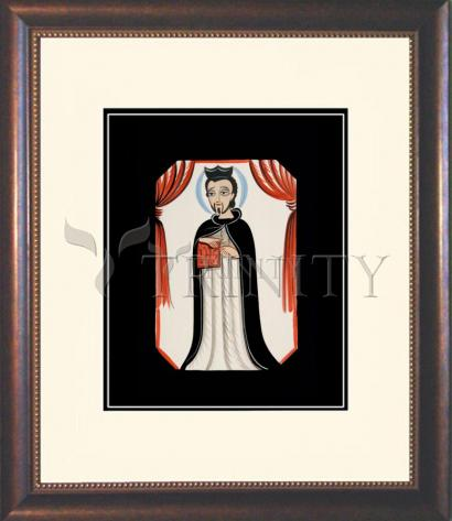 Wall Frame Double Mat Gold - St. Ignatius of Loyola by A. Olivas