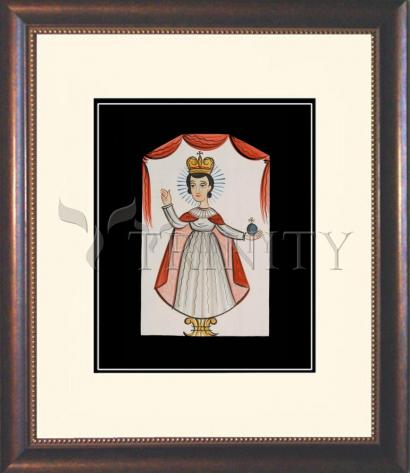 Wall Frame Double Mat Gold - Infant of Prague by A. Olivas
