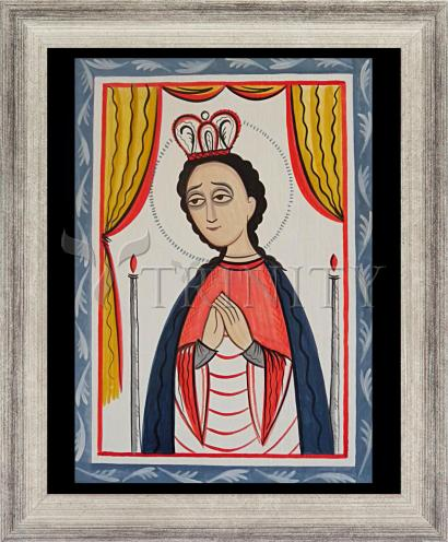 Wall Frame Silver Flat - Our Lady of San Juan de los Lagos by A. Olivas