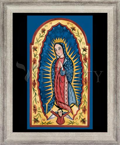 Wall Frame Silver Flat - Our Lady of Guadalupe by A. Olivas