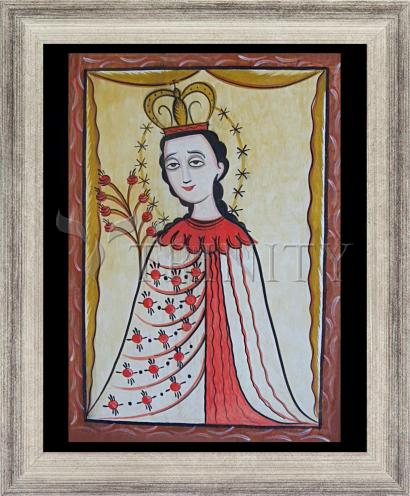 Wall Frame Silver Flat - Our Lady of the Roses by A. Olivas