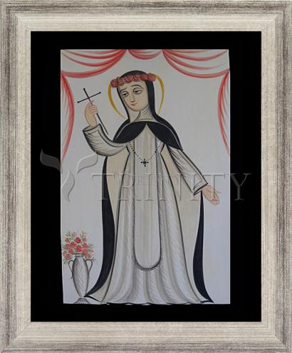 Wall Frame Silver Flat - St. Rose of Lima by A. Olivas