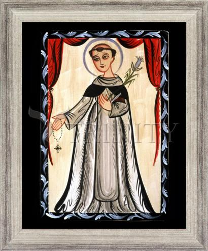 Wall Frame Silver Flat - St. Dominic by A. Olivas