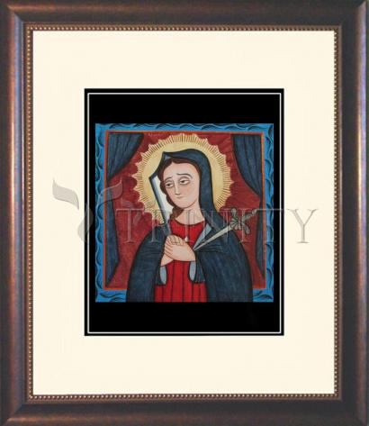 Wall Frame Double Mat Gold - Mater Dolorosa - Mother of Sorrows by A. Olivas