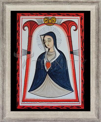 Wall Frame Silver Flat - Our Lady of the Cave by A. Olivas