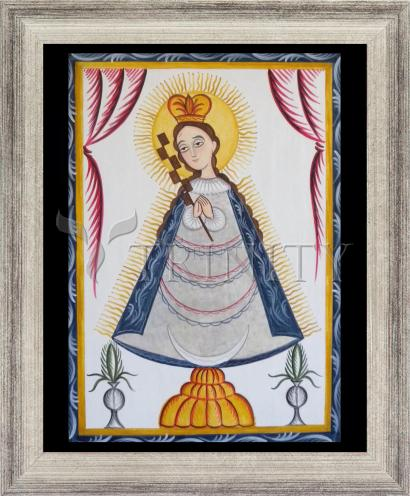 Wall Frame Silver Flat - Virgin of the Macana by A. Olivas