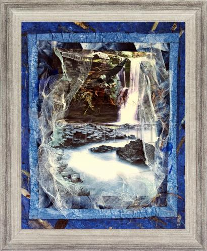 Wall Frame Silver Flat - Eagles Rest Upon Air by B. Gilroy