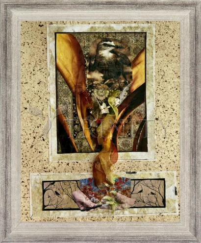 Wall Frame Silver Flat - Birds of Paradise by B. Gilroy