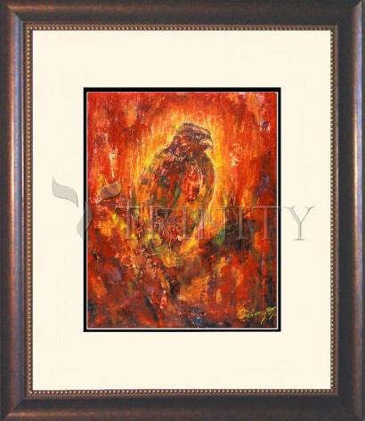 Wall Frame Double Mat Gold - Eagle Eye by B. Gilroy