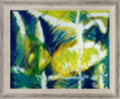 Wall Frame Silver Flat - Fish In Net by B. Gilroy