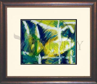 Wall Frame Double Mat Gold - Fish In Net by B. Gilroy